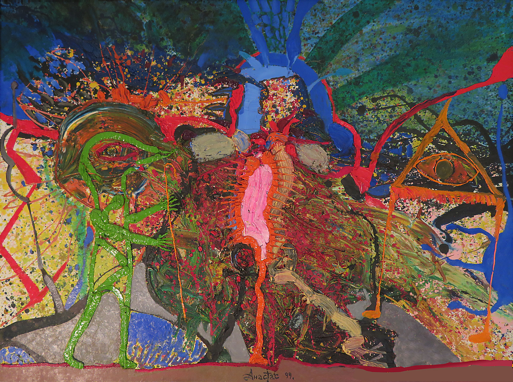 HYPERSENSITIVE PROPHECY: 98 x 130 cm