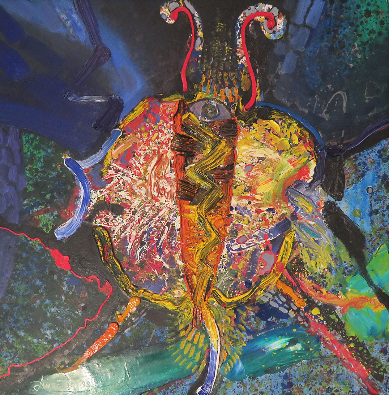 JET BUTTERFLY: 70 x 70 cm